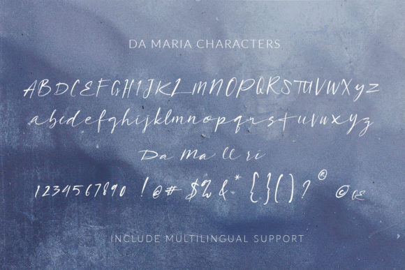 Print on Demand: Da Maria Script & Handwritten Font By Scratch Design - Image 7
