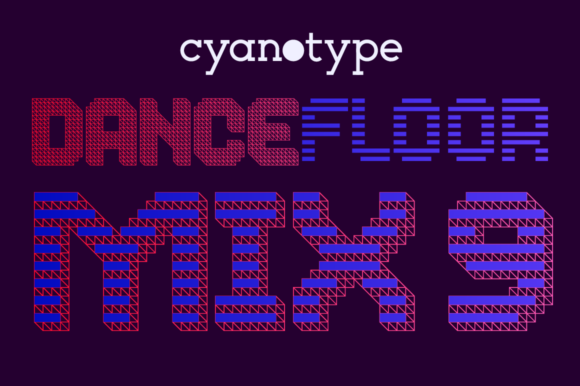 Print on Demand: Dance Floor Mix 9 Display Font By cyanotype