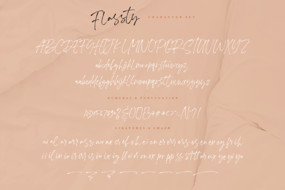 Print on Demand: Flassty Script & Handwritten Font By Geranium.co - Image 14