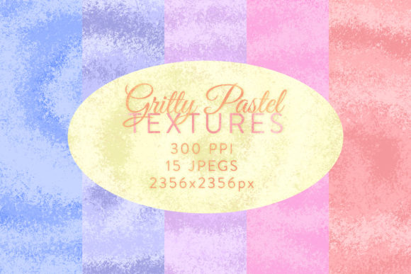 Print on Demand: Gritty Pastel Textures Graphic Textures By OA Design - Image 2
