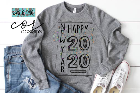 Print on Demand: Happy New Year 2020 Graphic Crafts By designscor - Image 1