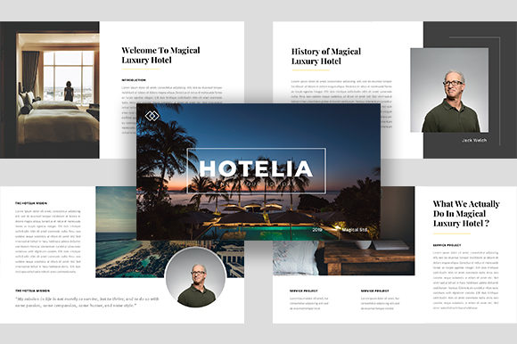 Hotelia – Business PowerPoint Template Graphic Presentation Templates By ponizeothox - Image 1