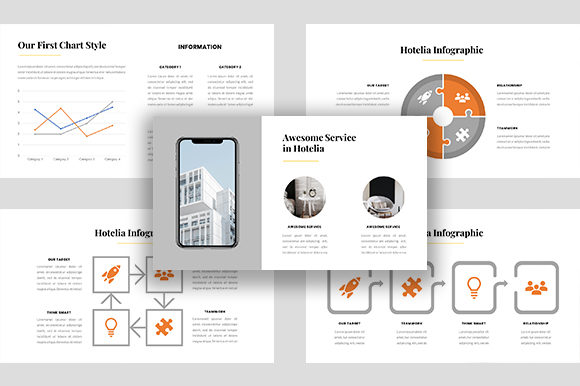 Hotelia – Business PowerPoint Template Graphic Presentation Templates By ponizeothox - Image 6
