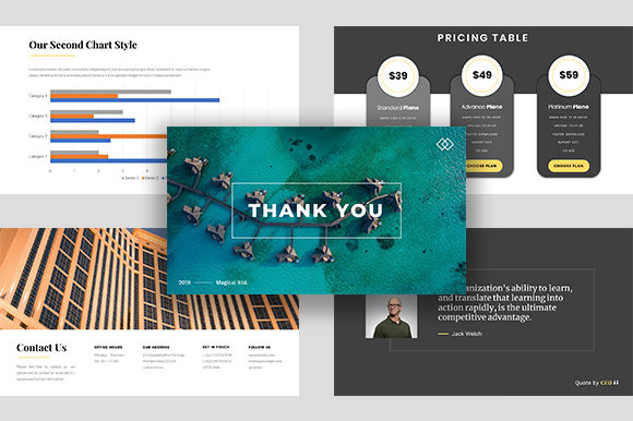 Hotelia – Business PowerPoint Template Graphic Presentation Templates By ponizeothox - Image 7