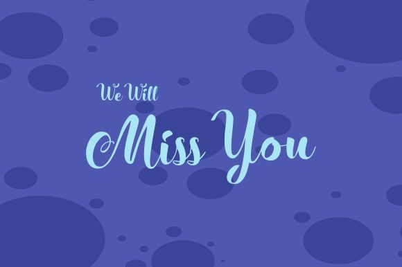Miss You.farewell Party Template Graphic Print Templates By zaenal.abidin4133