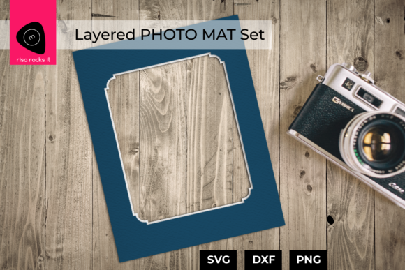 Layered Photo Mat Set Graphic Crafts By RisaRocksIt
