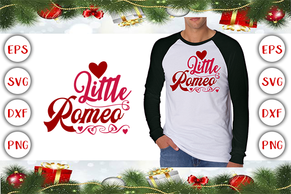 Little Romeo T-shirt Design Gráfico Plantillas para Impresión Por Design Cafe