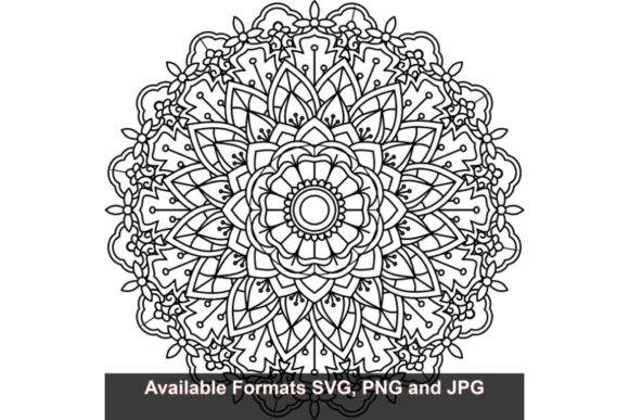 Download Free Mandala Art 450 Graphic Creative Fabrica for Cricut Explore, Silhouette and other cutting machines.