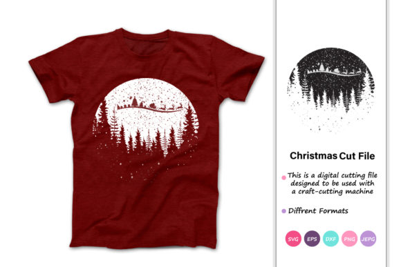 Print on Demand: Merry Christmas, Modern Christmas Graphic Crafts By iprintasty - Image 1