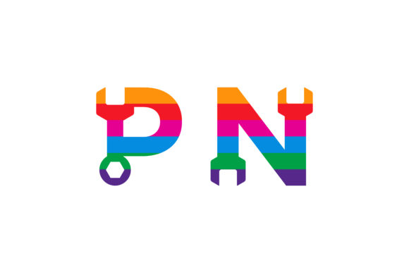 Download Free Pn Repair Colorful Logo Graphic By Noory Shopper Creative Fabrica for Cricut Explore, Silhouette and other cutting machines.