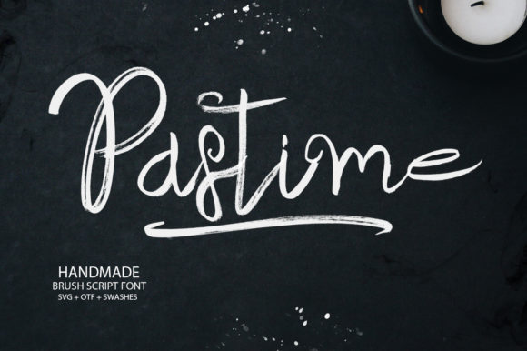 Print on Demand: Pastime Script & Handwritten Font By Ahmet Faruk Şahin