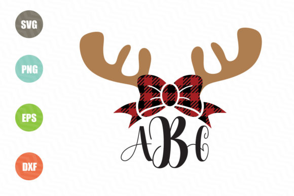 Download Free Reindeer Monogram Graphic By Logotrain034 Creative Fabrica for Cricut Explore, Silhouette and other cutting machines.