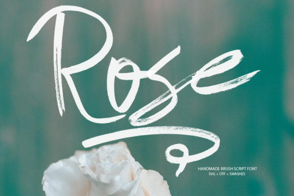 Print on Demand: Rose Script & Handwritten Font By Ahmet Faruk Şahin