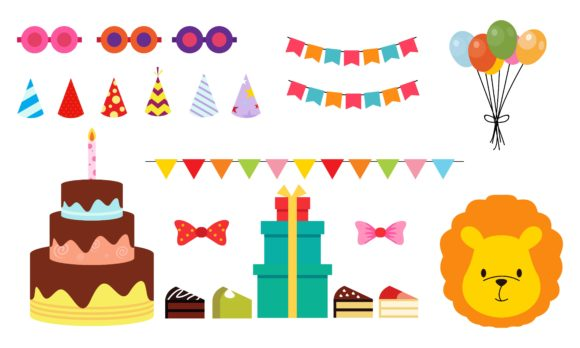 Collection of Party and Celebration Logo Graphic Logos By DEEMKA STUDIO