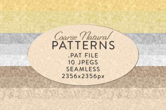 Print on Demand: Seamless Coarse Natural Patterns Graphic Actions & Presets By OA Design