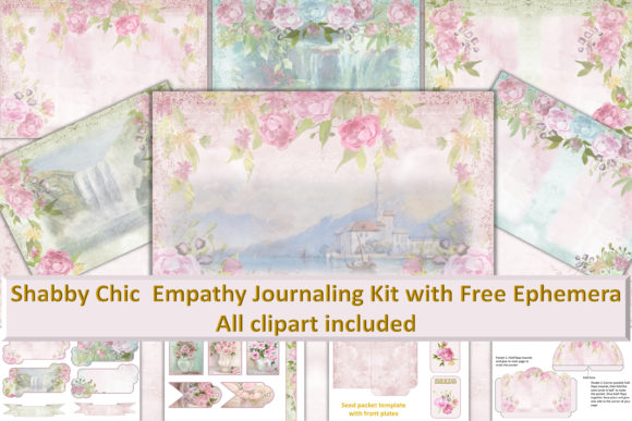 Print on Demand: Shabby Chic Printable Journal Kit Gráfico Crafts Por The Paper Princess