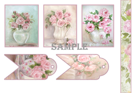 Print on Demand: Shabby Chic Printable Journal Kit Graphic Crafts By The Paper Princess - Image 10