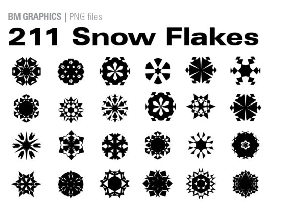 Print on Demand: Snowflakes Bundle Gráfico Crafts Por GraphicsBam Fonts