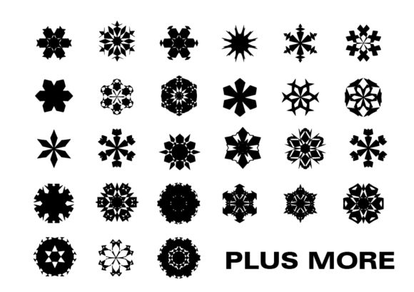 Print on Demand: Snowflakes Bundle Graphic Crafts By GraphicsBam Fonts - Image 2