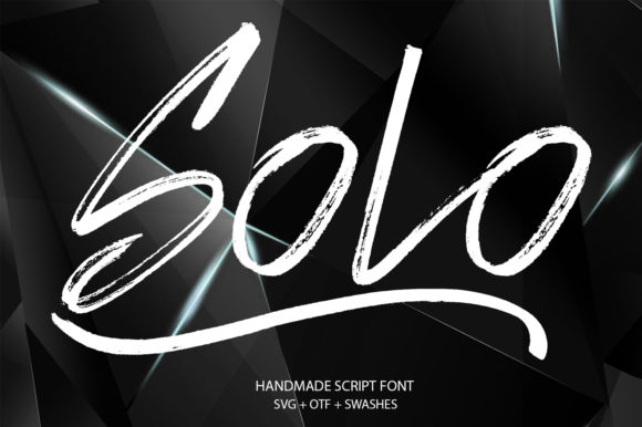 Print on Demand: Solo Script & Handwritten Font By Ahmet Faruk Şahin