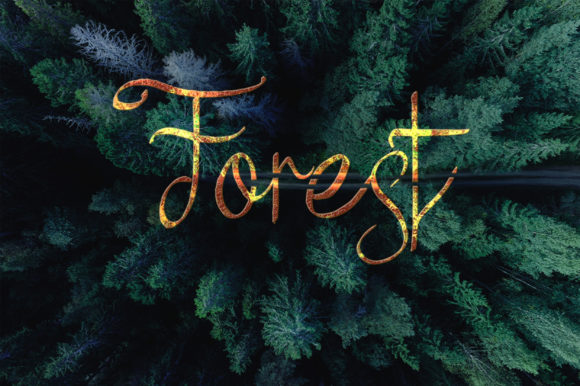 Print on Demand: Forest Script & Handwritten Font By Ahmet Faruk Şahin