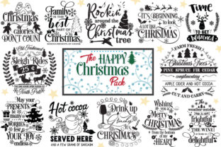 Download Free The Happy Christmas Pack 30 Cut Files Graphic By Nerd Mama Cut for Cricut Explore, Silhouette and other cutting machines.