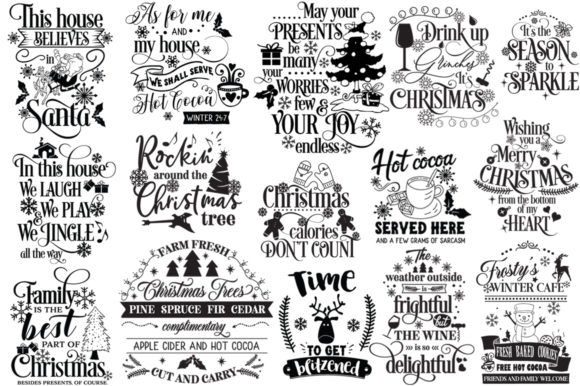 Download Free The Happy Christmas Pack 30 Cut Files Graphic By Nerd Mama Cut SVG Cut Files