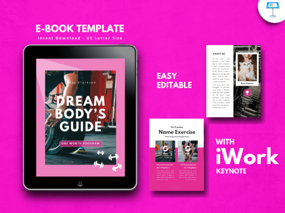 Download Free Fitness Ebook Powerpoint Templates Graphic By Rivatxfz for Cricut Explore, Silhouette and other cutting machines.