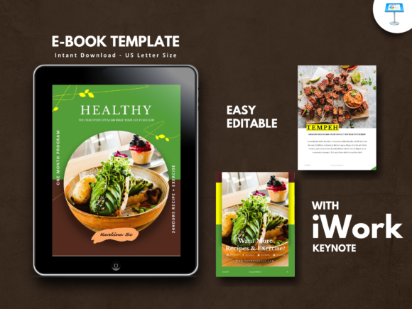 Print on Demand: Vegetarian Recipe Keynote Presentation Graphic Presentation Templates By rivatxfz