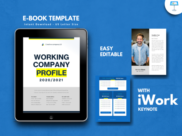 Print on Demand: Company Profile 2020 Keynote Presentatio Graphic Presentation Templates By rivatxfz