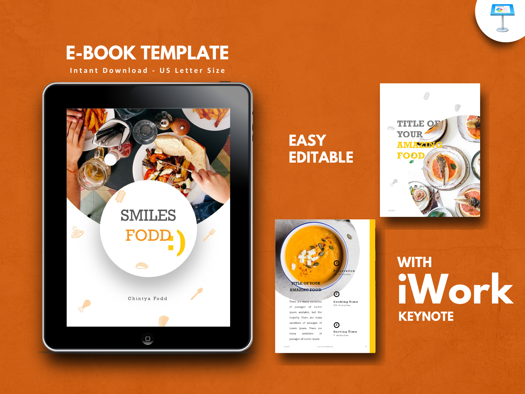Download Free Recipe Food Keynote Presentation Tempalt Graphic By Rivatxfz for Cricut Explore, Silhouette and other cutting machines.