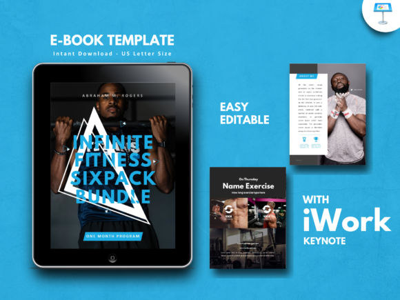 Print on Demand: Fitness Bold Keynote Presentation Templa Graphic Presentation Templates By rivatxfz
