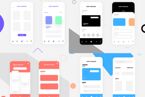 UI/UX Design Concepts Graphic Web Elements By Mansoor Gull