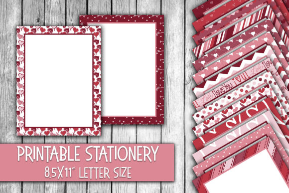 Valentine's Day Stationery Graphic Backgrounds By oldmarketdesigns
