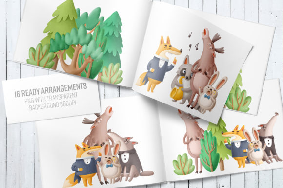 Print on Demand: Forest Scene Creator Graphic Illustrations By Architekt_AT - Image 6