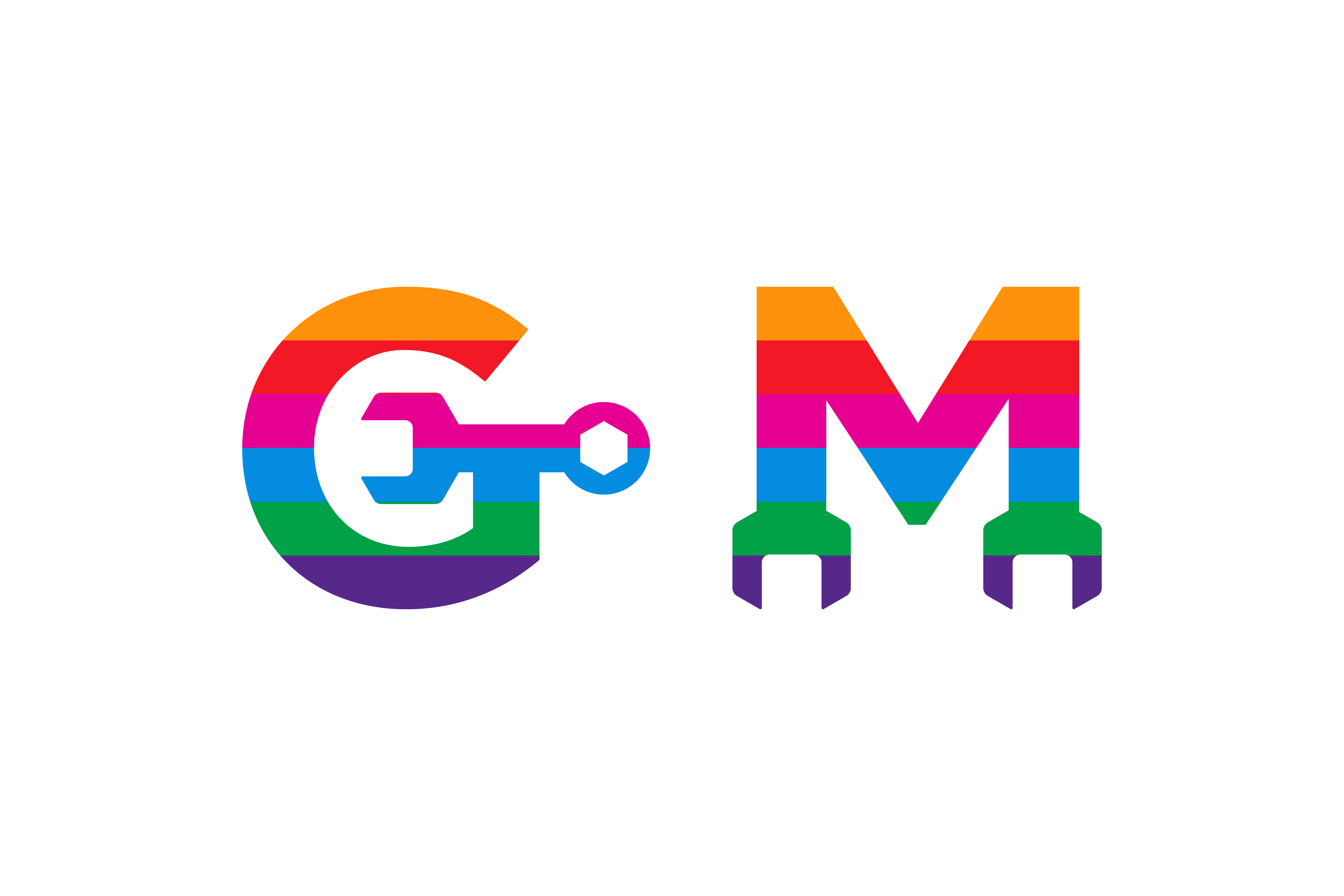 Gm Colorful Logo Graphic By Noory Shopper Creative Fabrica