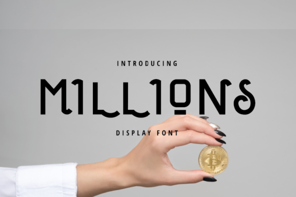 Print on Demand: Millions Display Font By nirmala.graphics