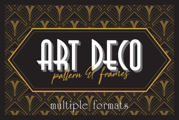 Print on Demand: Art Deco Elegant Pattern & Frames Graphic Patterns By Arterfak Project