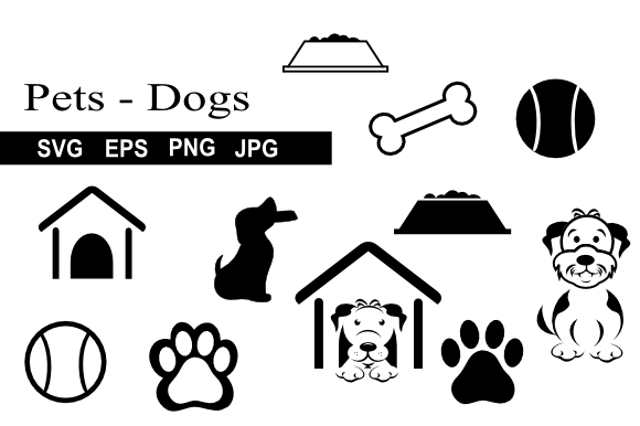 Print on Demand: Pet Dog Icon Graphics Graphic Icons By artbyliz - Image 1