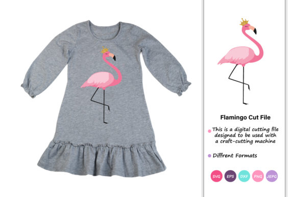 Print on Demand: Flamingo Little Princess Graphic Crafts By iprintasty