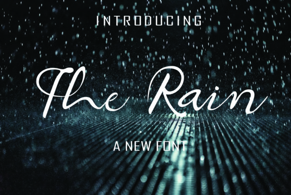 Print on Demand: The Rain Manuscrita Fuente Por mamplanglaut