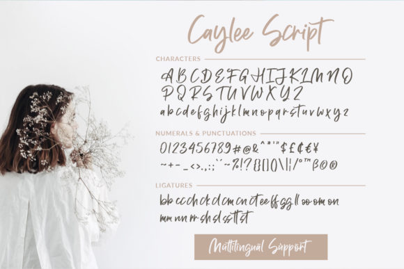Print on Demand: Caylee Script Script & Handwritten Font By Weape Design - Image 9