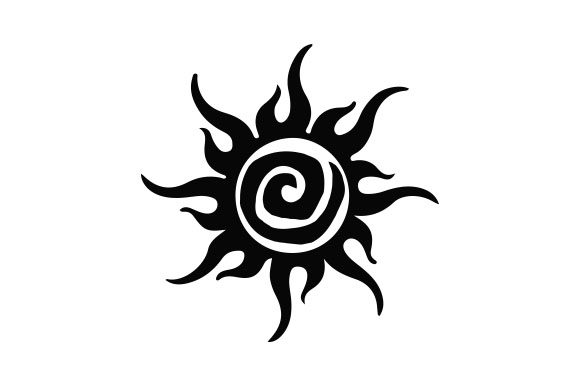 Sun Tattoo Tatuajes Archivo de Corte Craft Por Creative Fabrica Crafts