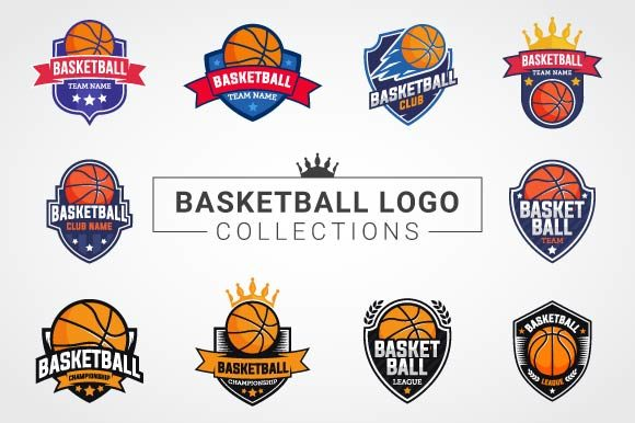 Download Free Basketball Logo Collections Graphic By Freshcare Creative Fabrica for Cricut Explore, Silhouette and other cutting machines.