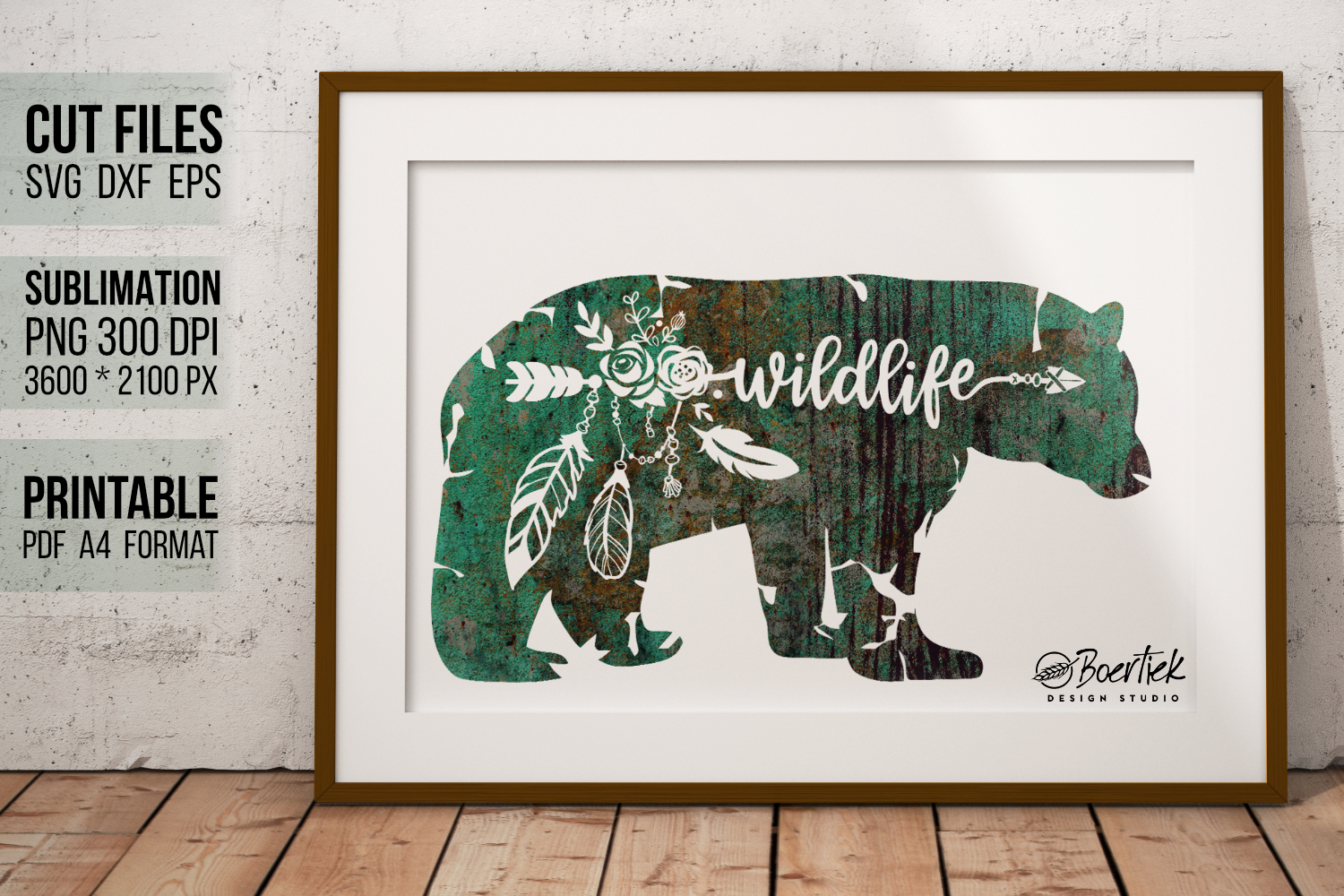 Download Free Bear With Word Wildlife Graphic By Boertiek Creative Fabrica SVG Cut Files