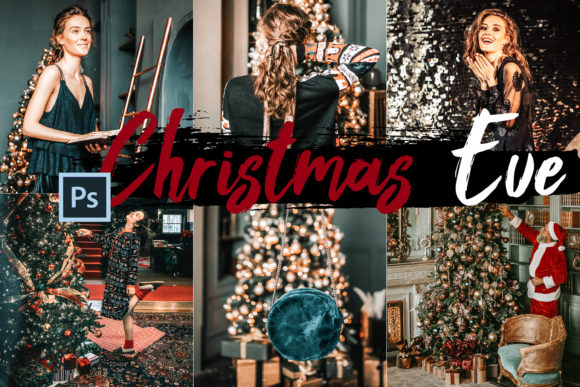 Print on Demand: 05 Christmas Eve Photoshop Actions, ACR Graphic Actions & Presets By 3Motional