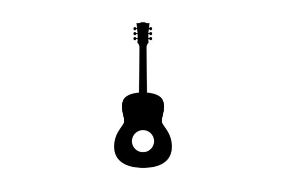 Download Free Guitar Silhouette Svg Cut File By Creative Fabrica Crafts for Cricut Explore, Silhouette and other cutting machines.