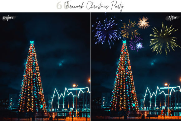 Download Free 60 Firework Christmas Party Overlays Graphic By 3motional for Cricut Explore, Silhouette and other cutting machines.