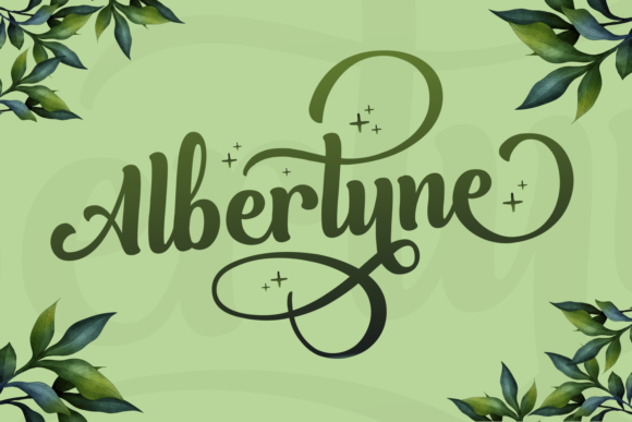 Print on Demand: Albertyne Script & Handwritten Font By Kelik - 7NTypes