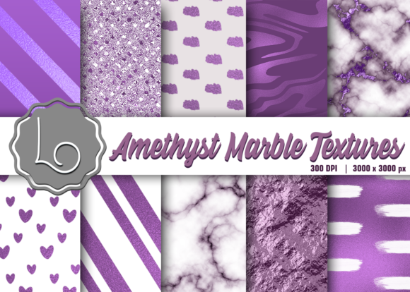 Print on Demand: Amethyst Marble Textures Graphic Textures By La Oliveira